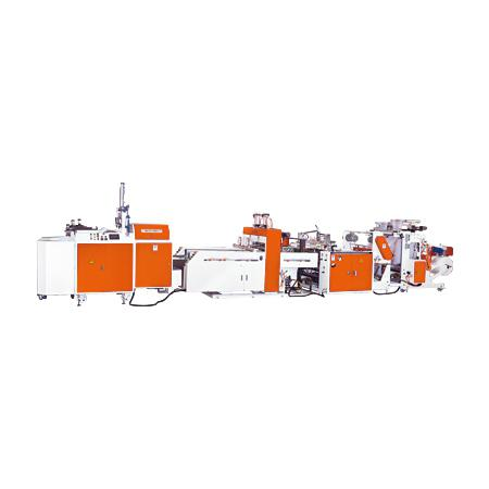 Automatic High Speed T-Shirt Bag Making Machine with Packaging Device